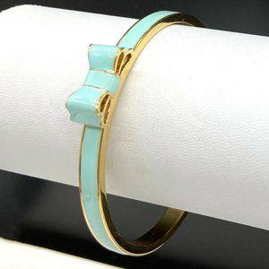 Kate Spade Aqua Enamel Bangle Bracelet Take A Bow